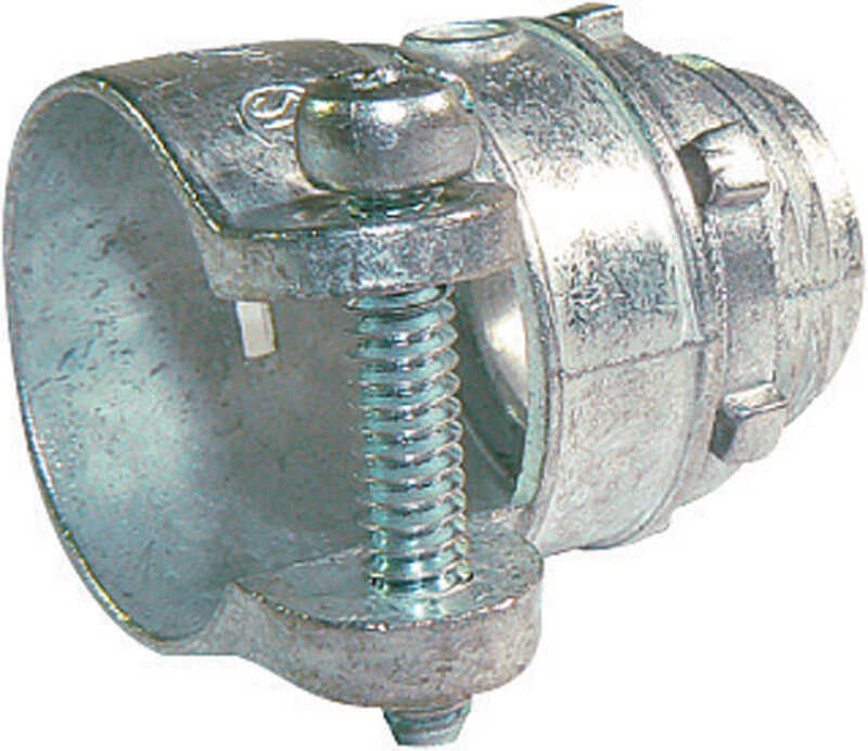 Sigma Electric ProConnex  3/8 in. Dia. Die-Cast Zinc  Squeeze Connector  For AC, MC or FMC/RWFMC 1 p