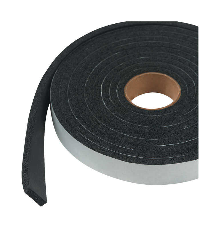 M-D Building Products  Black  Sponge Rubber  Weather Stripping  For Auto and Marine 10 ft. L x 1/4 i