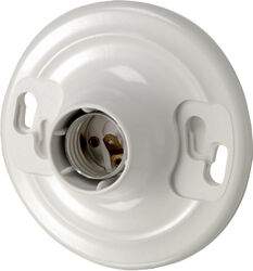 Leviton  Plastic  Incandescent  Medium Base  Keyless Socket  1 pk