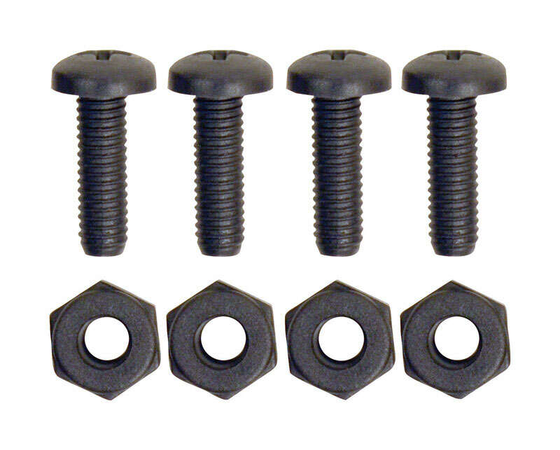 Custom Accessories  Black  Nylon  License Plate Fasteners