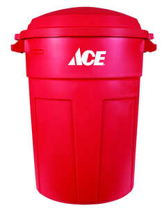 Ace  32 gal. Plastic  Garbage Can