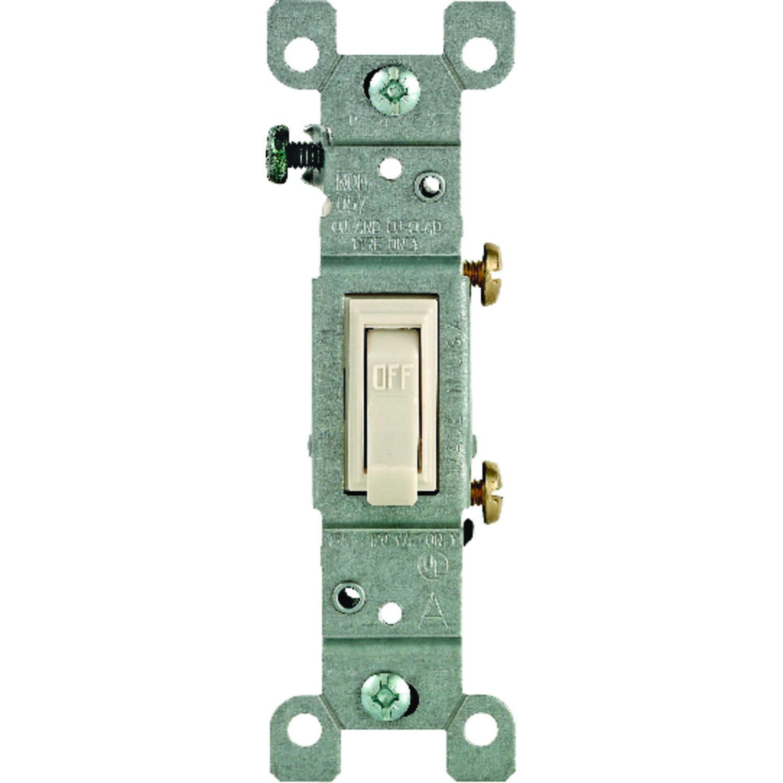Leviton 15 Amps Toggle Switch Light Almond 1 Pk