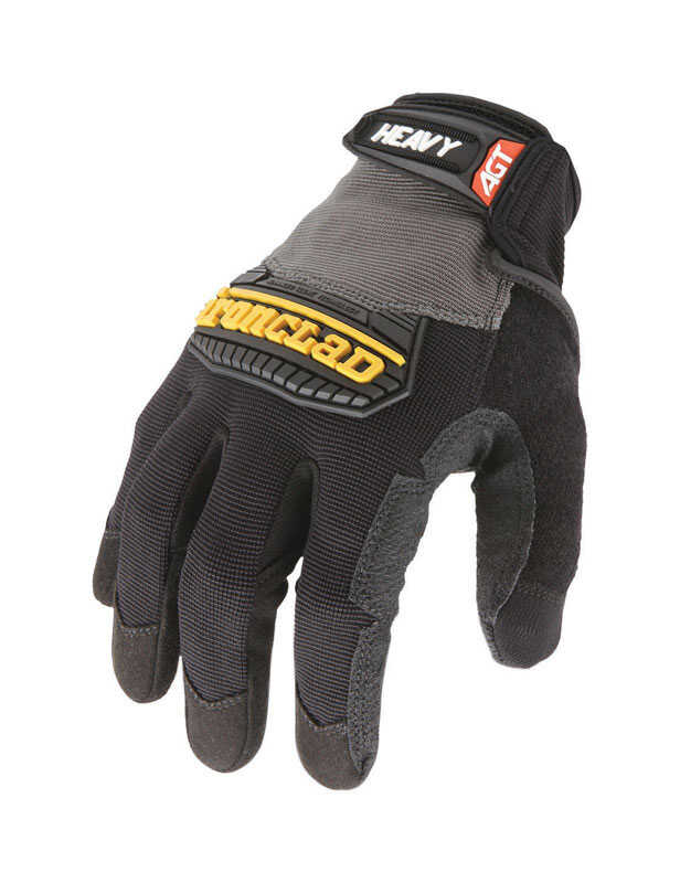 Ironclad  Men's  Synthetic Leather  Heavy Duty  Black/Gray  Gloves  Medium