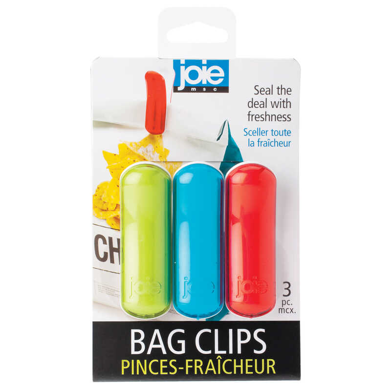 Joie  Assorted  Plastic  Bag Clips  3 pc.