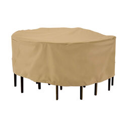 Classic Accessories  23 in. H x 69 in. W Brown  Polyester  Dining Set Cover