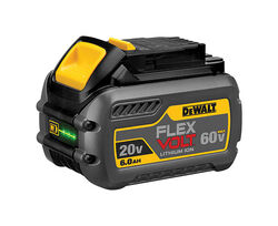 DeWalt  FLEXVOLT  60 volt 6 amps Lithium-Ion  Battery Pack  1 pc.