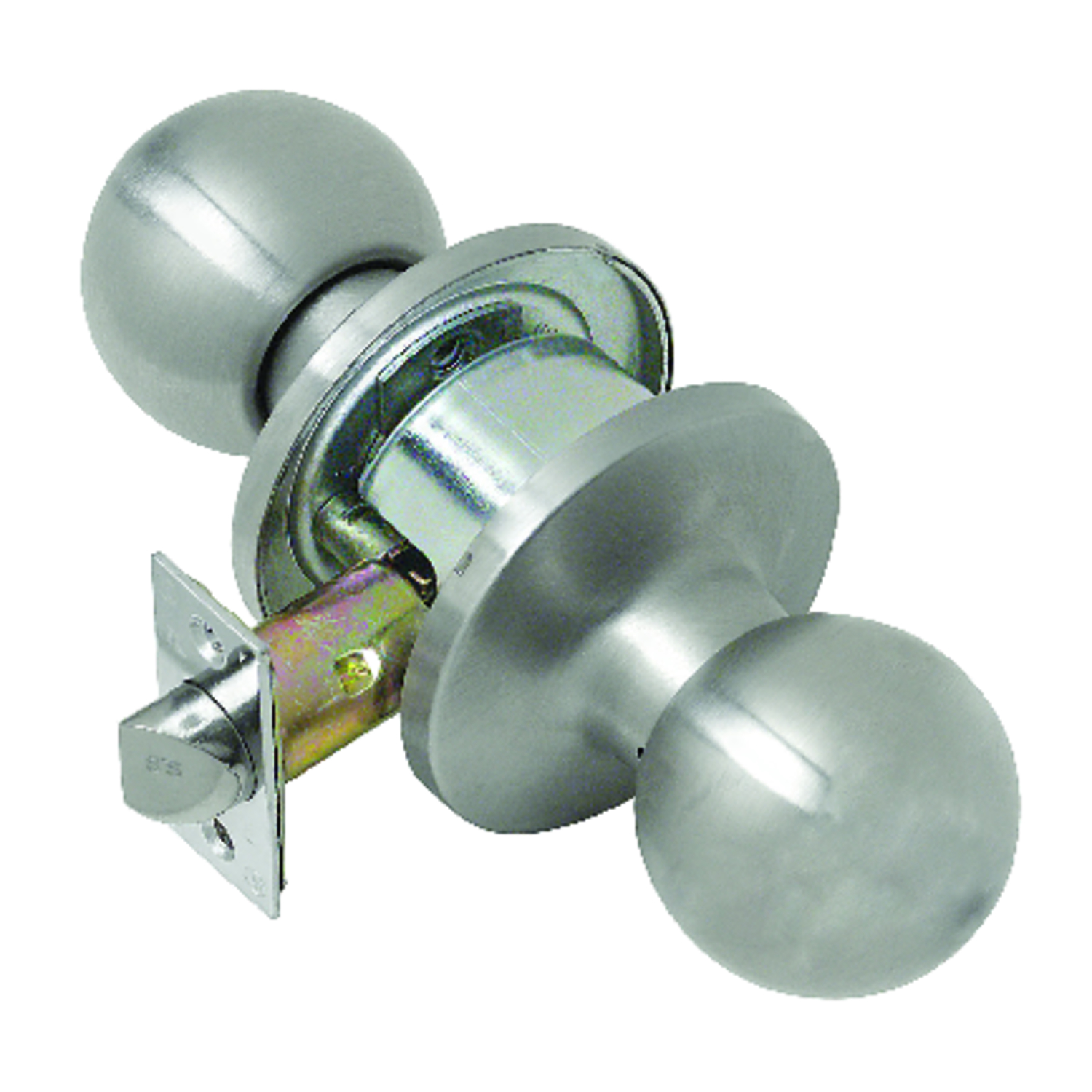 Tell  Empire  Satin Stainless Steel  Stainless Steel  Passage Lockset  ANSI Grade 2  1-3/4 in.