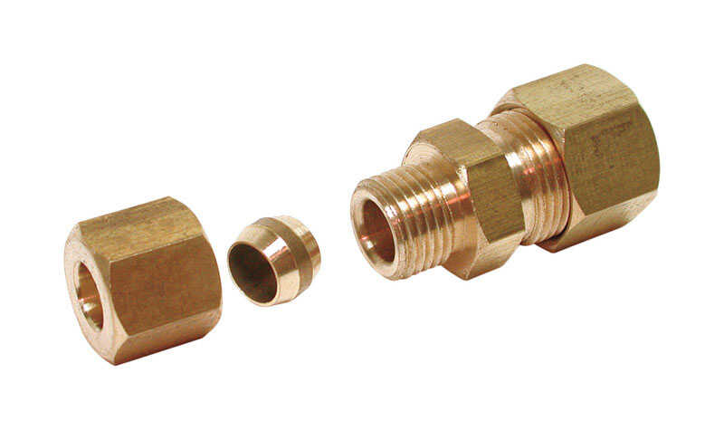 Dial  1/4 in. H x 3/8 in. W Compression Union  Brass