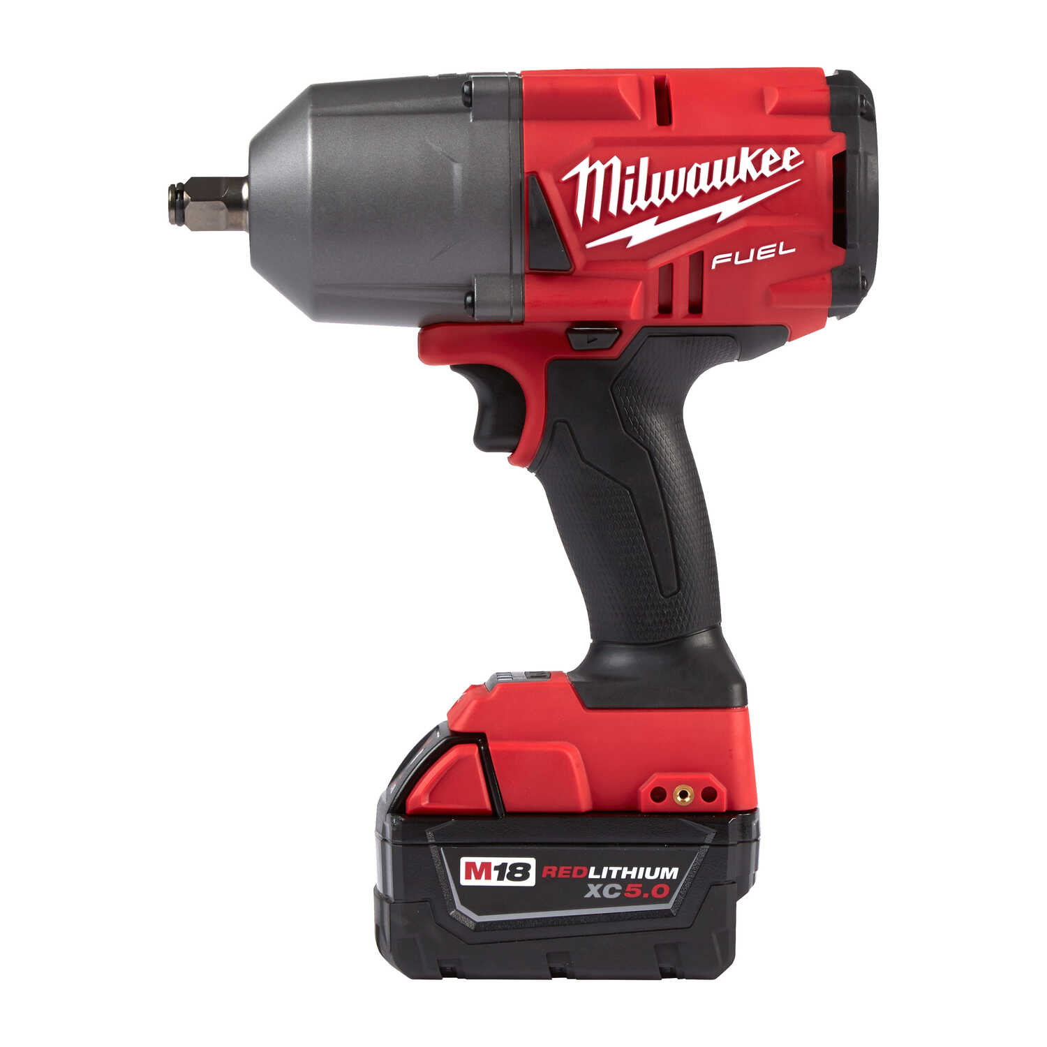 Milwaukee  M18 FUEL  1/2 in. Cordless  Brushless Impact Wrench with Friction Ring  Kit 18 volt 5 amp