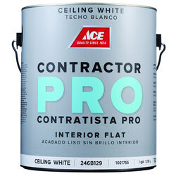 Ace  Contractor Pro  Flat  White  Paint  Interior  1 gal.