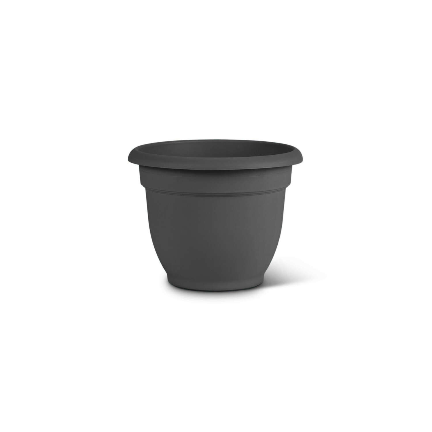 Bloem  8 in. Dia. Polyresin  Ariana  Planter  Charcoal