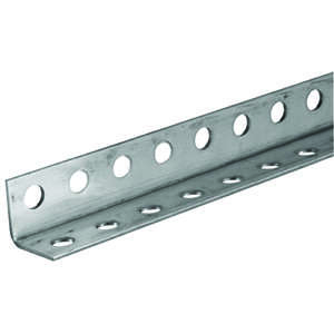 Boltmaster  1.25 in. H x 1.25 in. H x 36 in. L Zinc Plated Steel  Perforated Angle