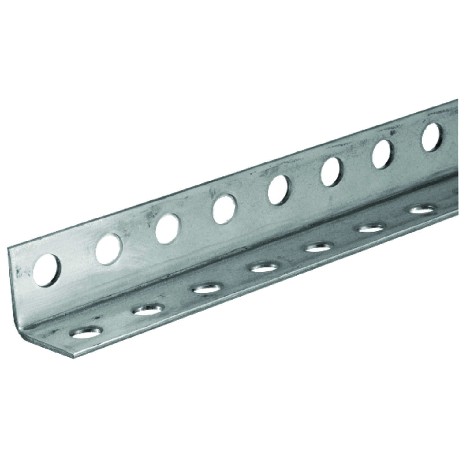 Boltmaster  1.25 in. H x 1.25 in. H x 36 in. L Perforated Angle  Zinc Plated Steel