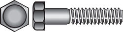 Hillman  1/2 in. Dia. x 6 in. L Hot Dipped Galvanized  Steel  Hex Bolt  25 pk