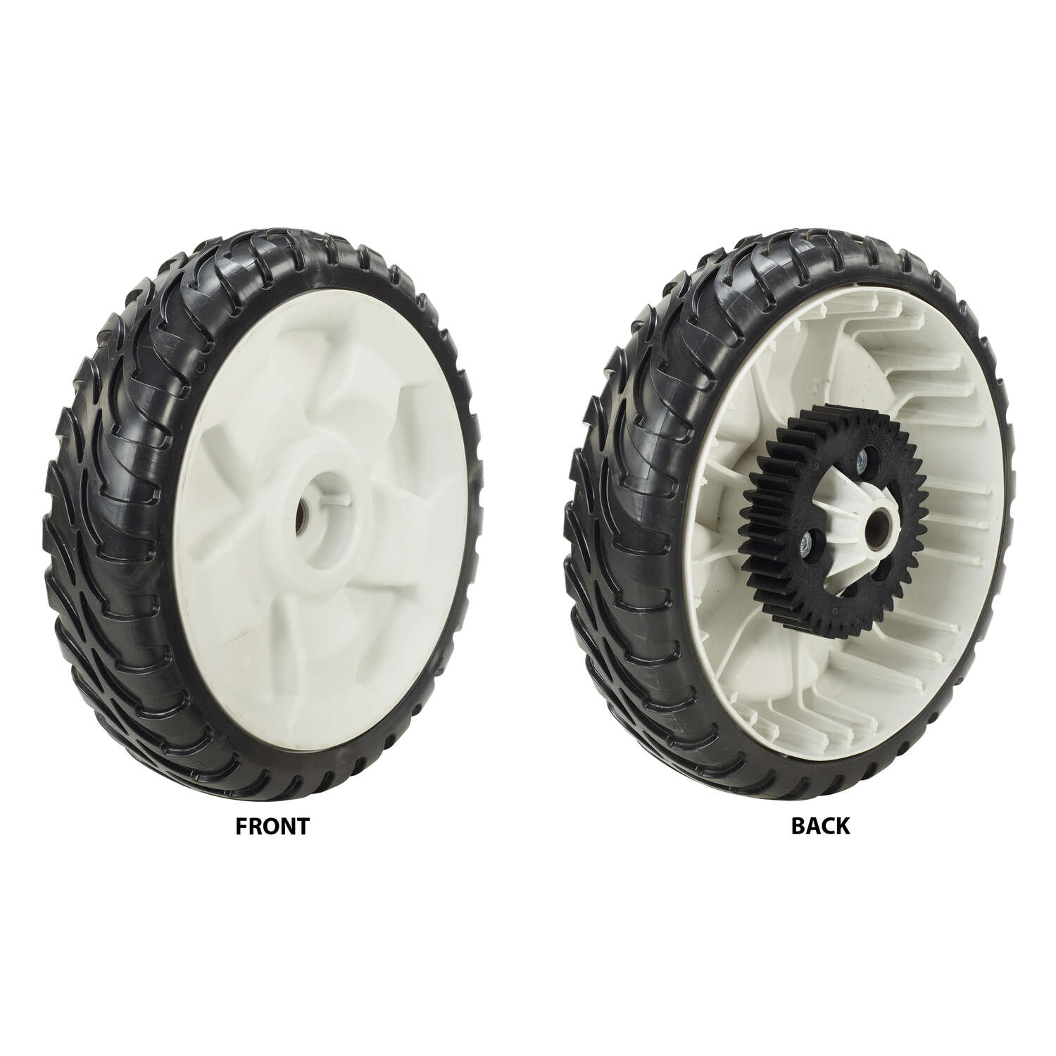 Toro  2 in. W x 8 in. Dia. Plastic  Lawn Mower Replacement Wheel