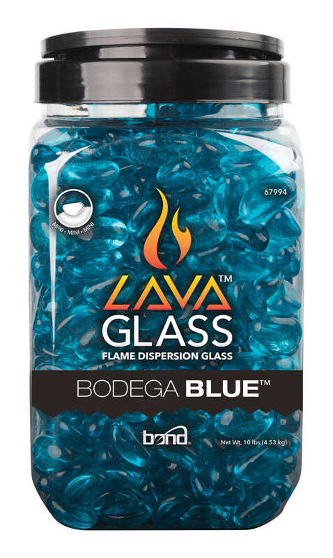 Bond  Bodega Blue  Gloss  Glass  Fire Pit Lava Glass