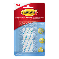 Command Small Plastic Decorating Clip 1.75 in. L