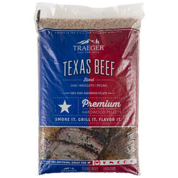 Traeger Texas Beef Blend All Natural Oak/Mesquite/Pecan Hardwood Pellets 20 lb.