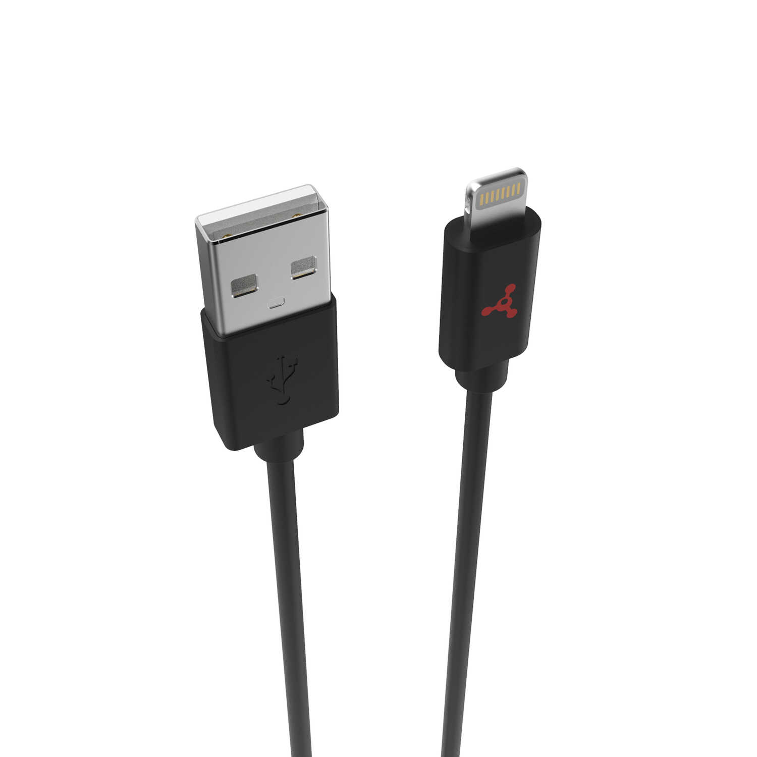 Fuse  Black  Lightning USB Charge and Sync Cable  For Apple 10 ft. L