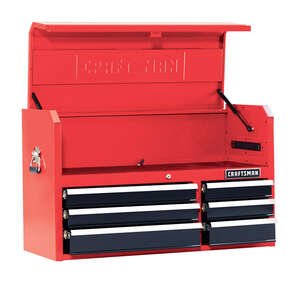 Craftsman  41 in. 16 in. D 6 drawer Metal  Top Tool Chest  Red/Black
