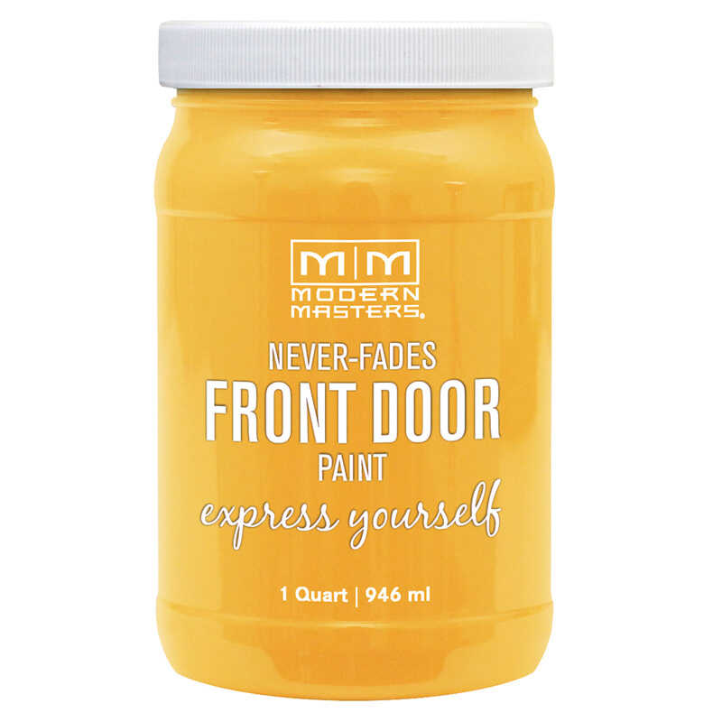 Modern Masters  Satin  Happy  Front Door Paint  1 qt.