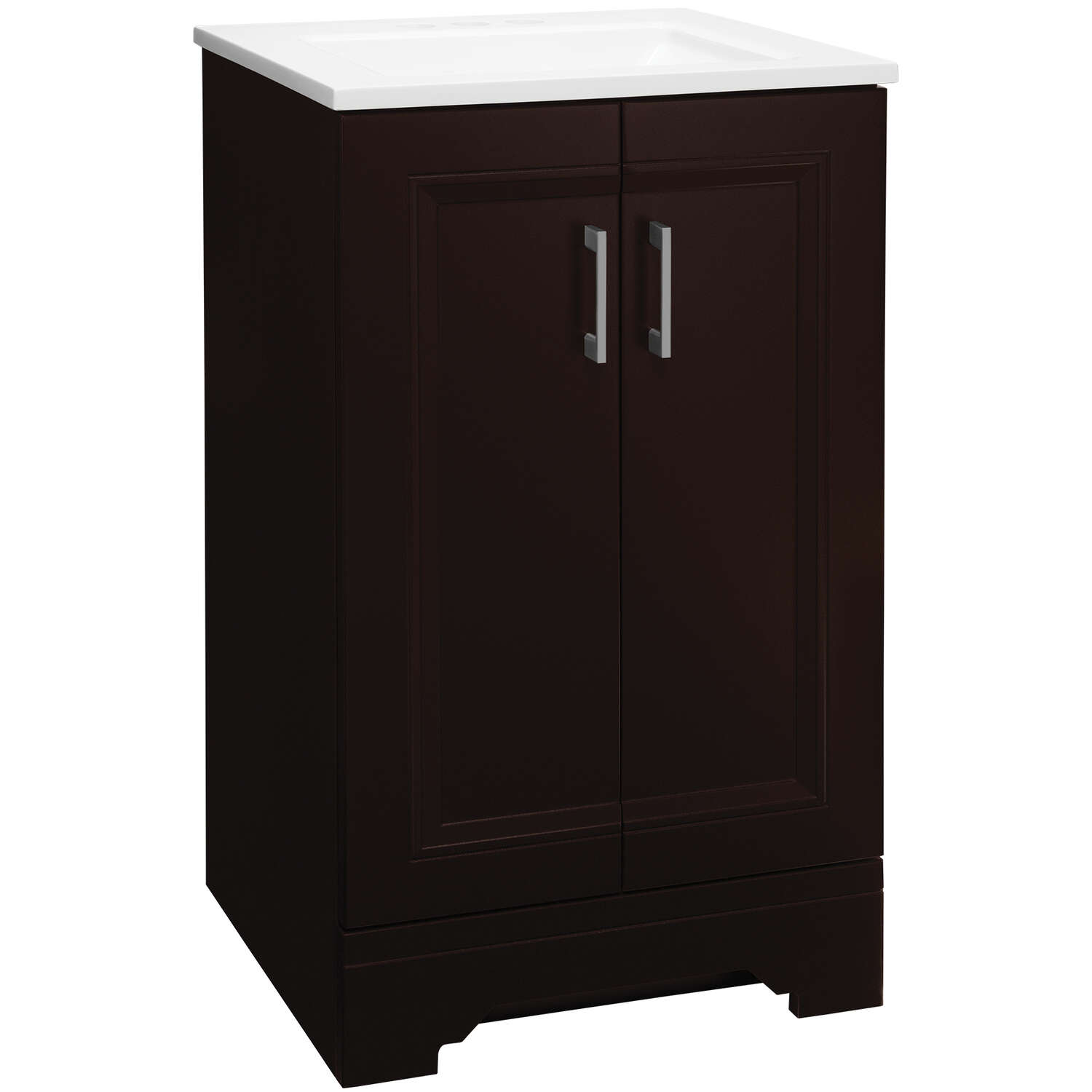 Continental Cabinets  Single  Dark  Espresso  Vanity Combo  18 in. W x 16 in. D x 31-3/4 in. H
