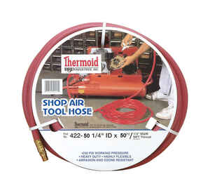 Thermoid  50 ft. L x 1/4 in.  Shop Air Tool Hose  EPDM Rubber  250 psi Red