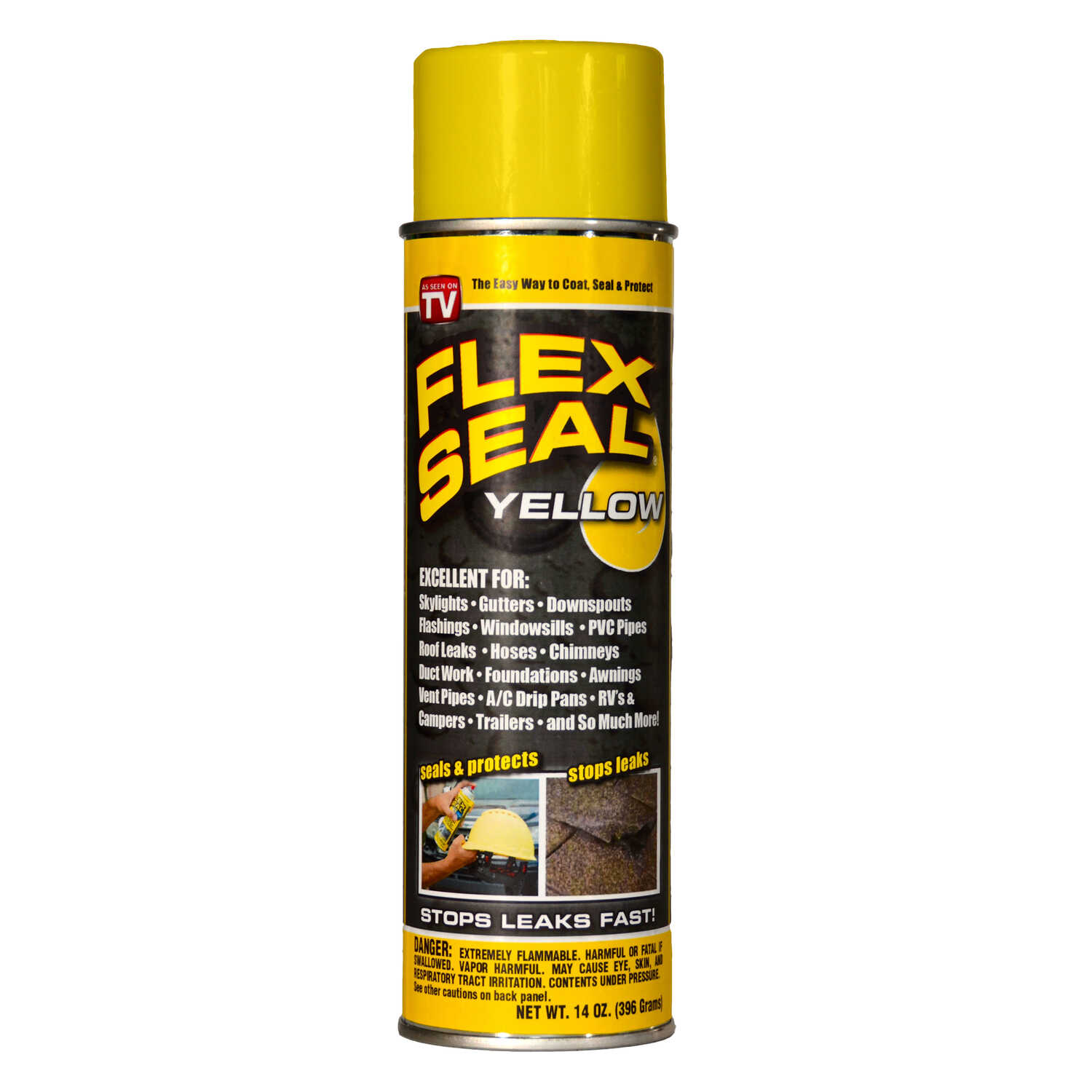 Flex Seal  Satin  Yellow  Rubber Spray Sealant  14 oz.