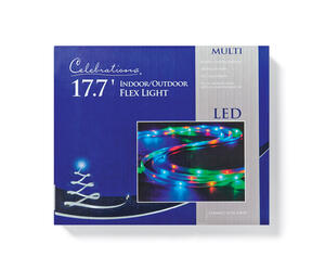 Celebrations  LED  Flex Tape  Rope Lights  Multicolored  16.5 ft. 99 lights