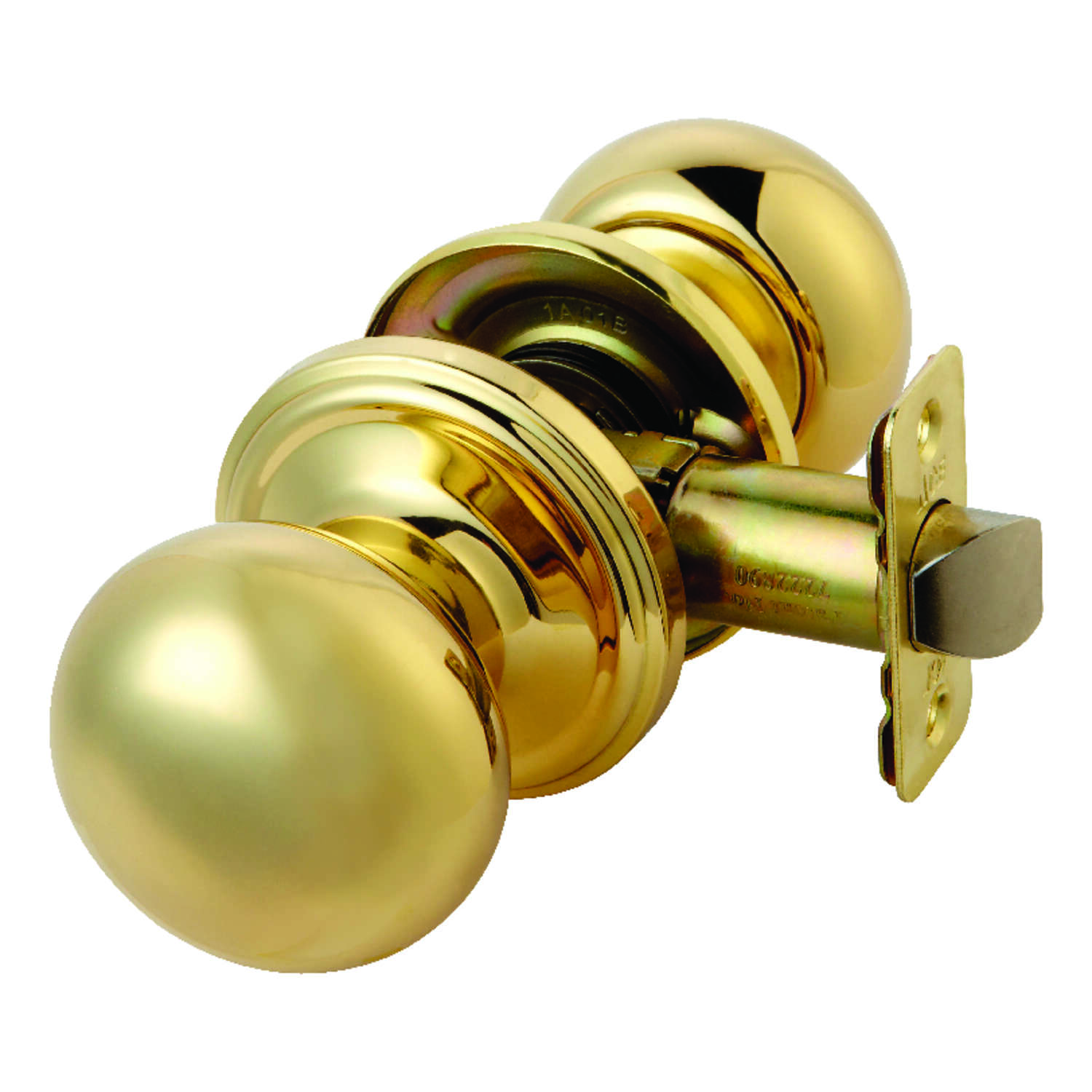 Ace Colonial Polished Brass Steel Passage Door Knob 3 Right or Left Handed