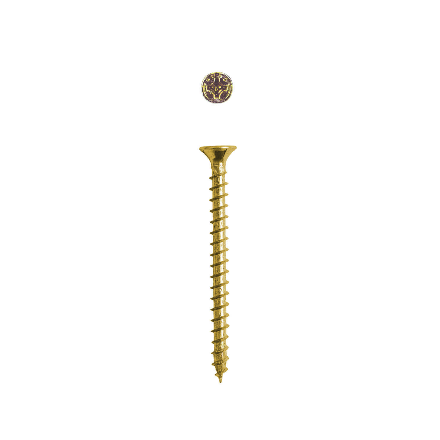 SPAX  No. 8   x 2 in. L Phillips/Square  Flat  Yellow Zinc  Steel  Multi-Purpose Screw  20 each