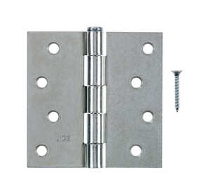 Ace  4 in. L Zinc-Plated  Steel  Door Hinge  1 pk