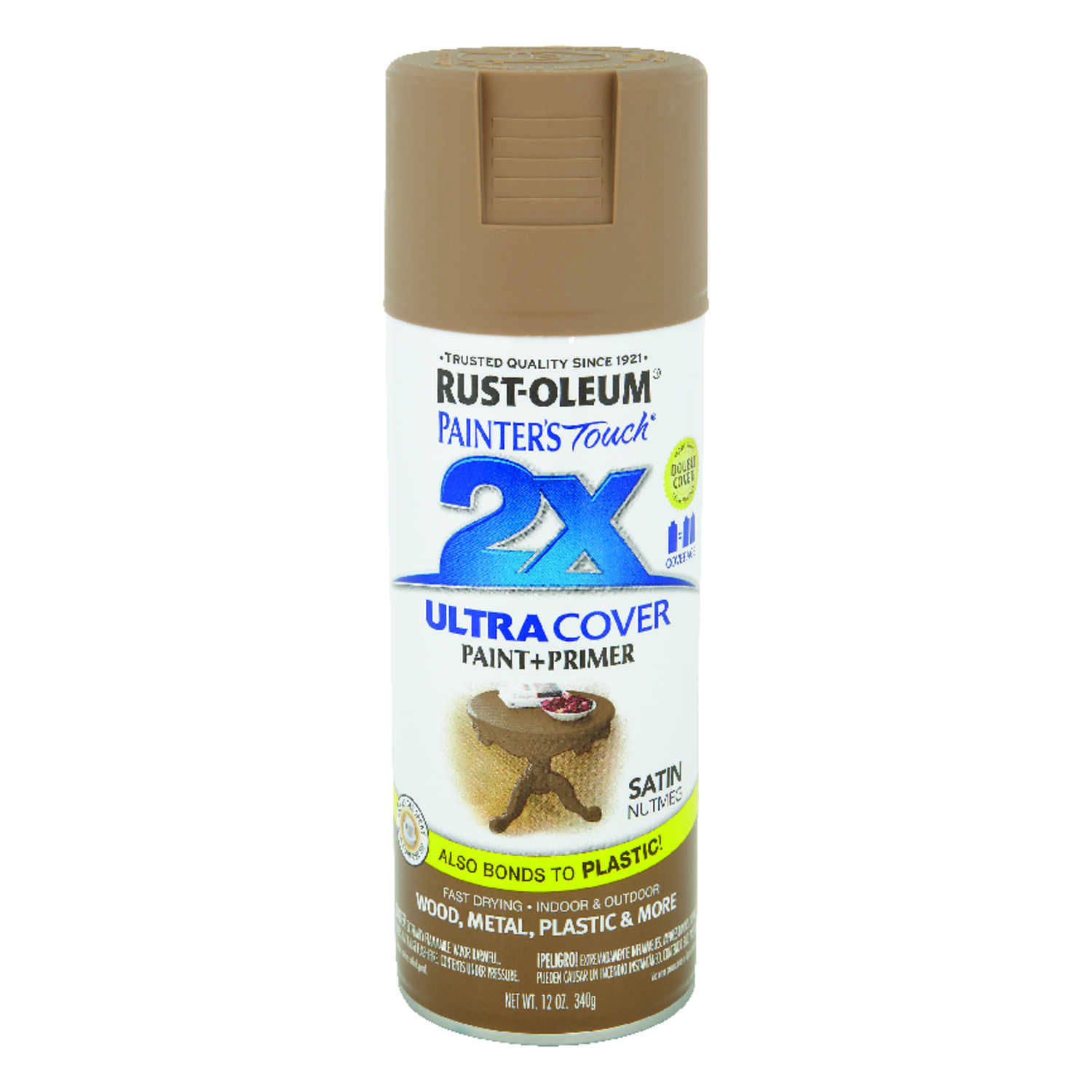 Rust-Oleum  Painter's Touch Ultra Cover  Satin  Nutmeg  12 oz. Spray Paint