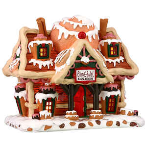 Lemax  Christmas Cinnamon Swirl Cabin  Tabletop Decoration  Multicolor  Resin  6.22 in. 1 pk