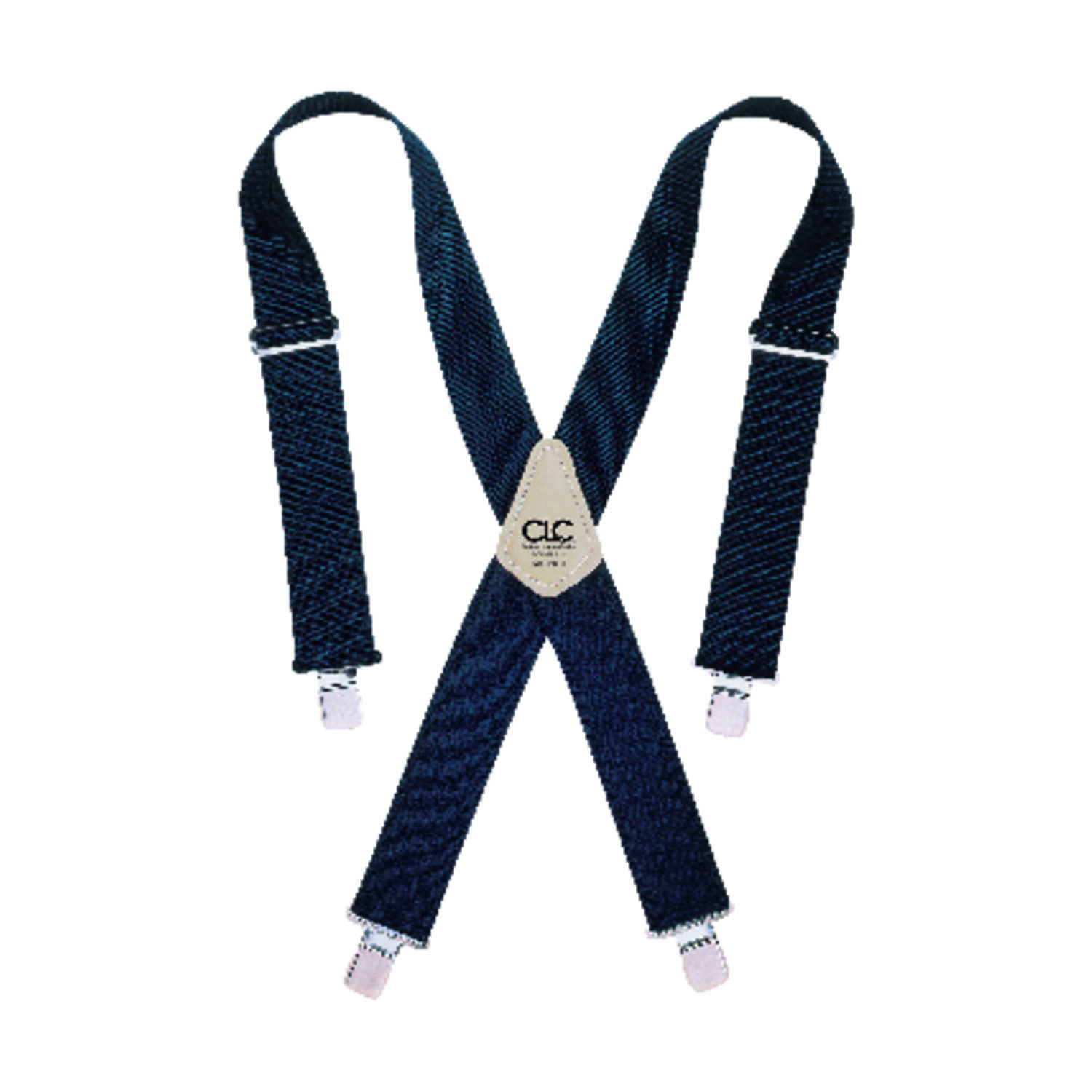 CLC  4 in. L x 2 in. W Nylon  Adjustable Suspenders  Blue  One Size Fits Most  1 pair