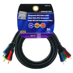 Monster Cable  Just Hook It Up  6 ft. L Component RCA Video Cable  RCA