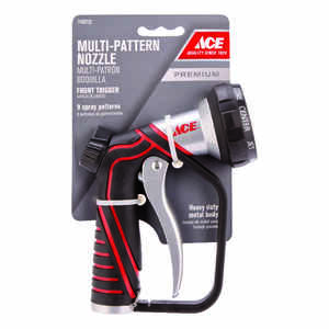 Ace  9 pattern Adjustable  Brass/Zinc  Hose Nozzle