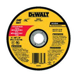 DeWalt  High Performance  6 in. Dia. x 7/8 in. in.  Aluminum Oxide  Cut-Off Wheel  1 pc.