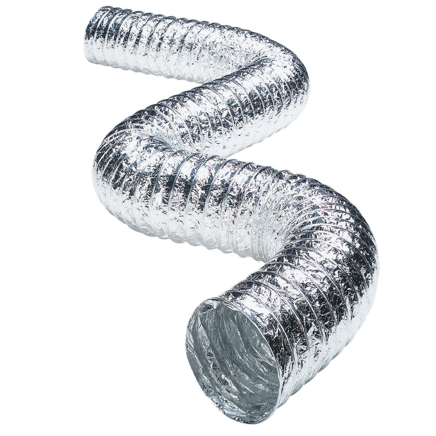 Deflect-O  Jordan  25 ft. L x 4 in. Dia. Dryer Vent Duct  Aluminum  Silver/White