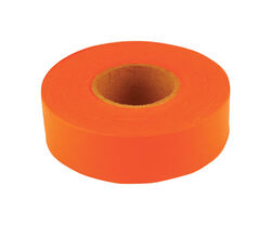 C.H. Hanson  Sub-Zero  150 ft. L x 1.2 in. W PVC  Flagging Tape  Fluorescent Orange