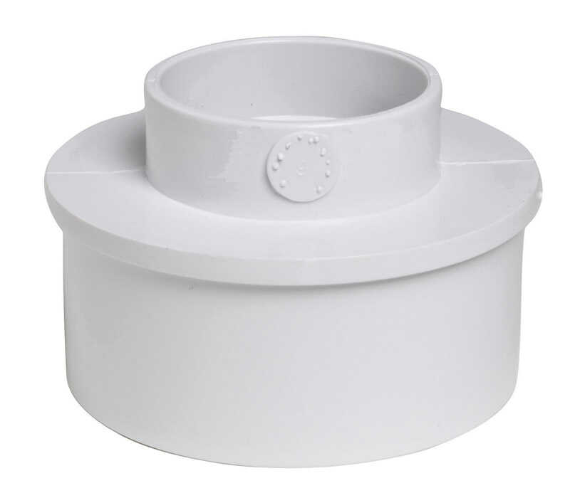 Plastic Trends  SDR35/3034  4 in. Spigot   x 1-1/2 in. Dia. Hub  PVC  Reducing Bushing