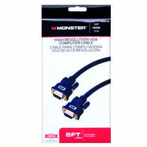 Monster Cable  Just Hook It Up  6 ft. L High Resolution VGA Computer Cable  VGA