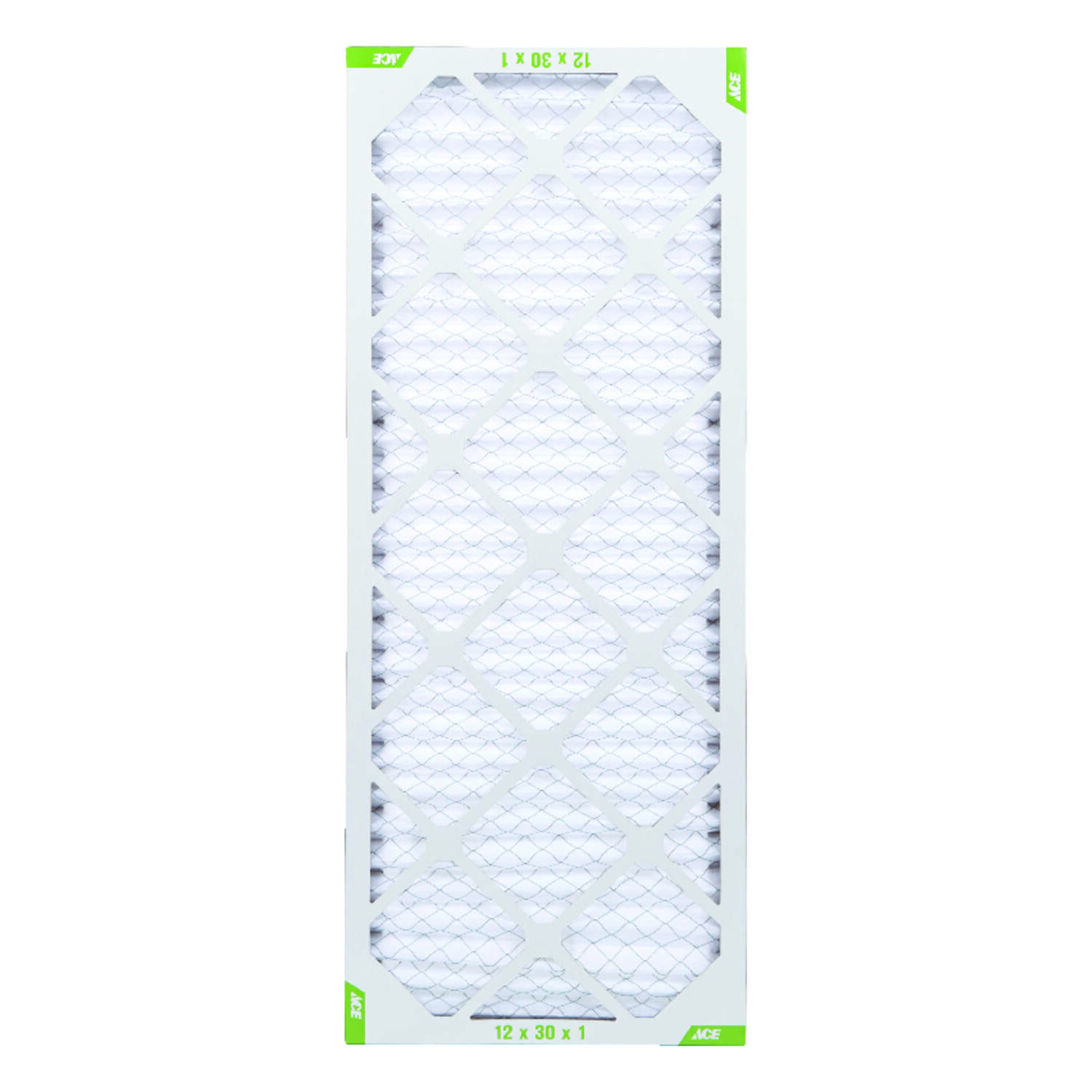 Ace  30 in. H x 12 in. W x 1 in. D Pleated  Air Filter