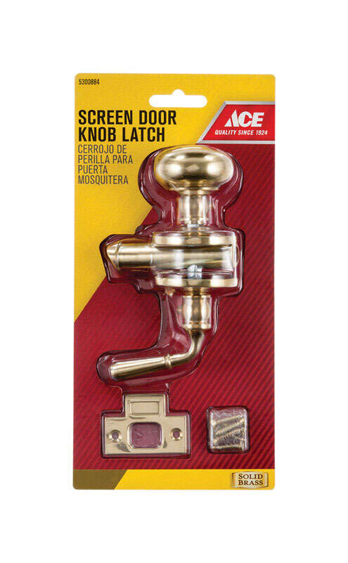 Ace  Solid Brass  Screen Storm Door Latch  1 pk