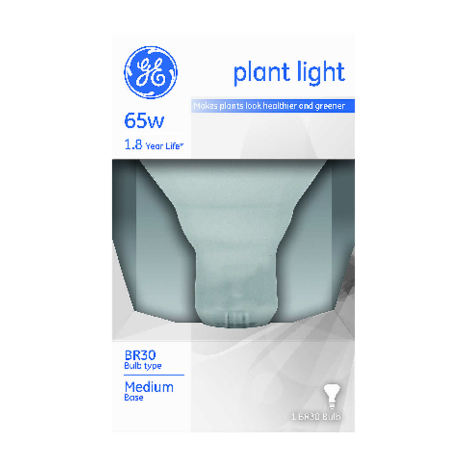 GE Lighting  65 watts BR30  Incandescent Bulb  Soft White  740 lumens 1 pk Decorative