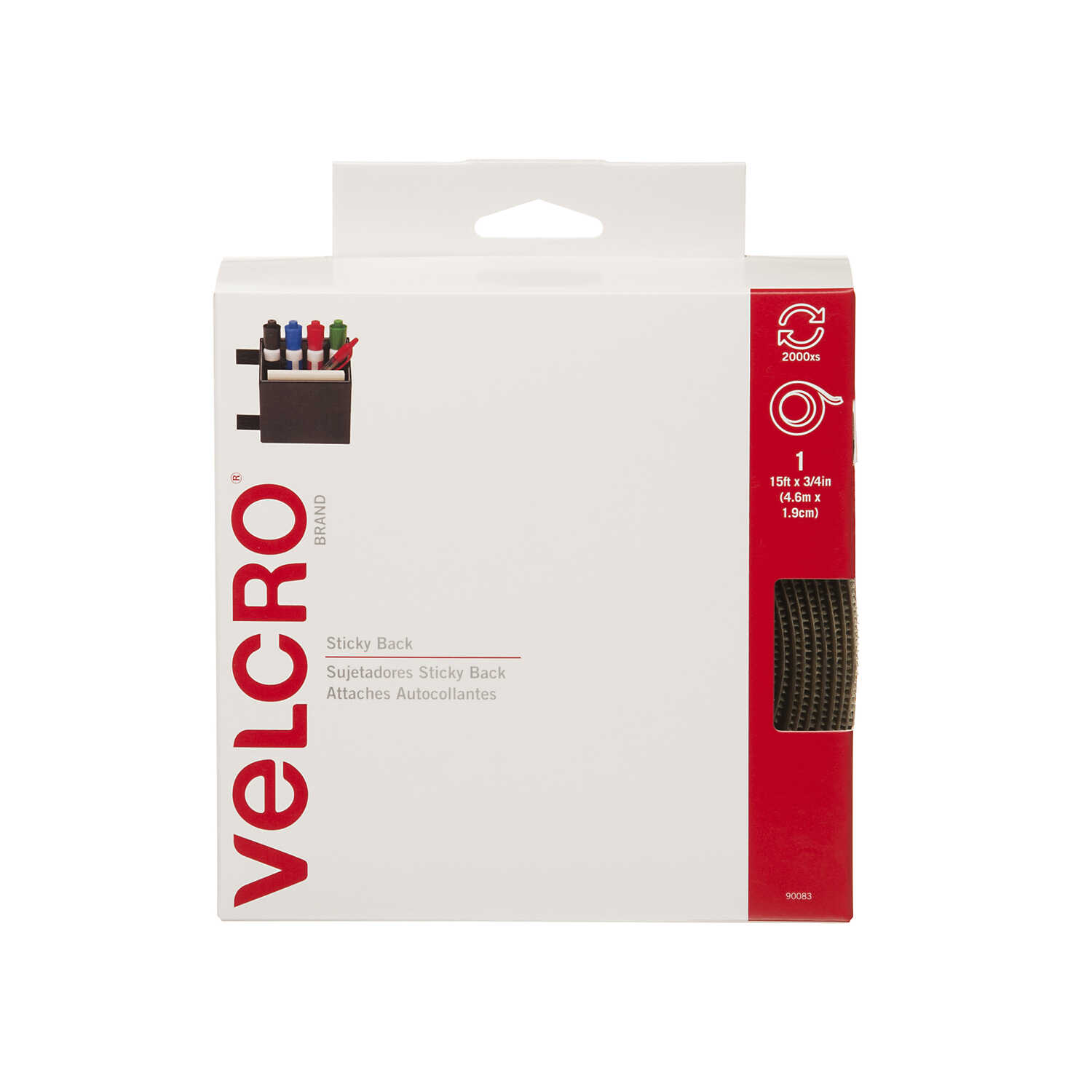 Velcro  Hook and Loop Fastener  180 in. L 1 pk
