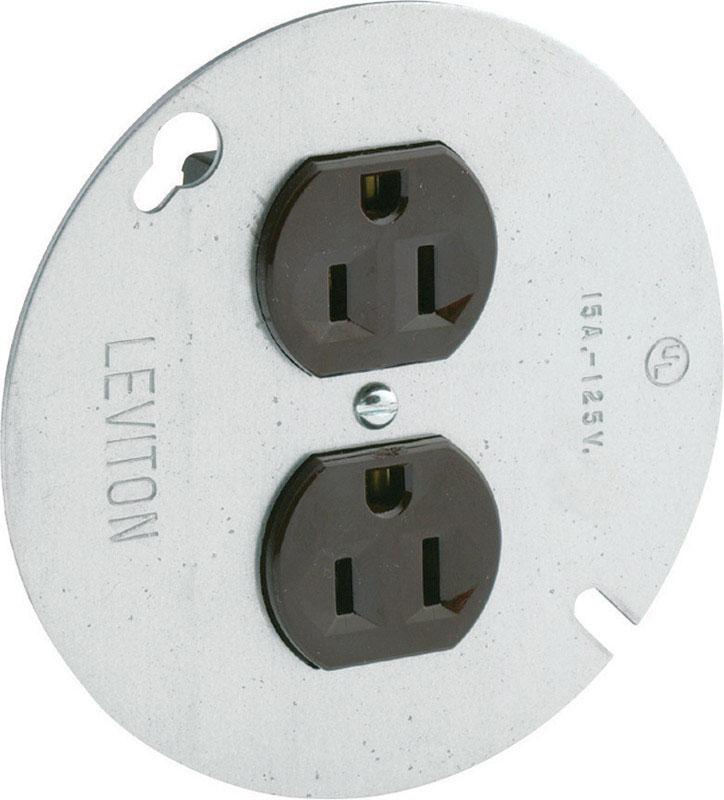 Leviton 15 amps 125 volt Brown Outlet 5-15R 1 pk - Ace Hardware