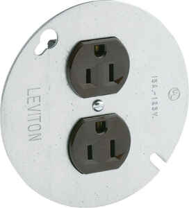 Leviton  15 amps 125 volt Brown  Outlet  5-15R  1 pk