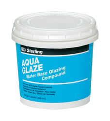 Sterling  Aqua Glaze  Flat  White  Glazing Compound  1 qt.