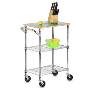 Honey Can Do  37-1/2 in. H x 28-1/2 in. W x 17-3/4 in. D Utility Cart